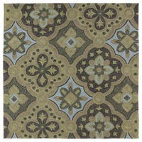 Seaside Chocolate Panel Indoor/Outdoor Rug - 7'9 x 7'9