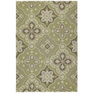 Seaside Green Panel Indoor/Outdoor Rug (10'0 x 14'0)