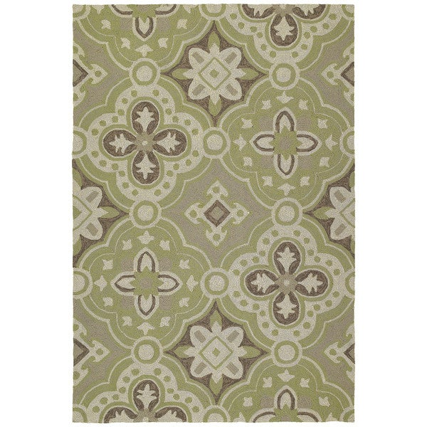 Seaside Green Panel Indoor/Outdoor Rug - 10' x 14'