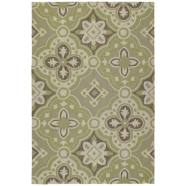 Seaside Green Panel Indoor/Outdoor Rug - 10'0 x 14'0