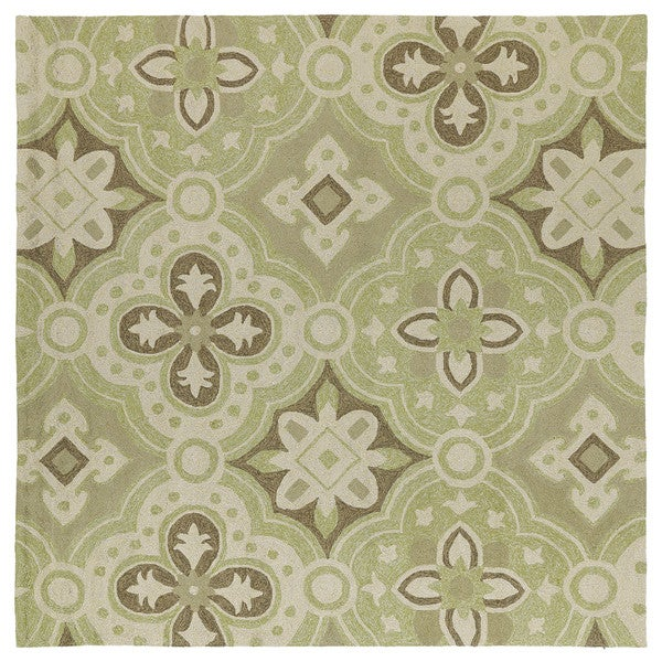 Seaside Green Panel Indoor Outdoor Rug 7 X27 9 X