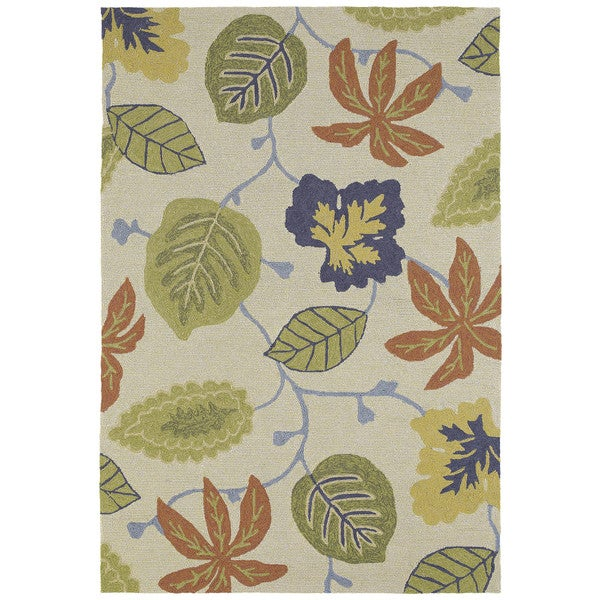Seaside Whimsical Sand Indoor/Outdoor Rug (10'0 x 14'0)