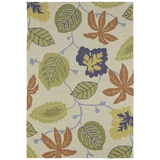 Seaside Whimsical Sand Indoor/Outdoor Rug (8'0 x 10'0)
