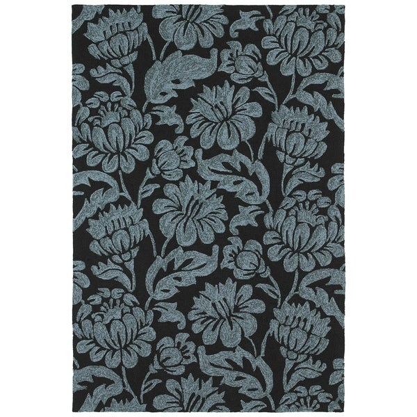 Seaside Black Garden Indoor/Outdoor Rug