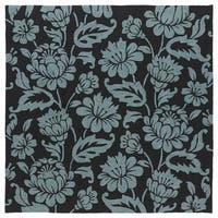 Seaside Black Garden Indoor/Outdoor Rug (7'9 x 7'9)