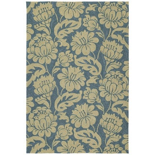 Seaside Blue Garden Indoor/ Outdoor Rug (10' x 14')
