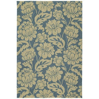 Seaside Blue Garden Indoor/Outdoor Rug (9' x 12')