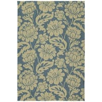 Seaside Blue Garden Indoor/Outdoor Rug - 9' x 12'