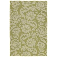 Seaside Green Garden Indoor/ Outdoor Rug (4' x 6')