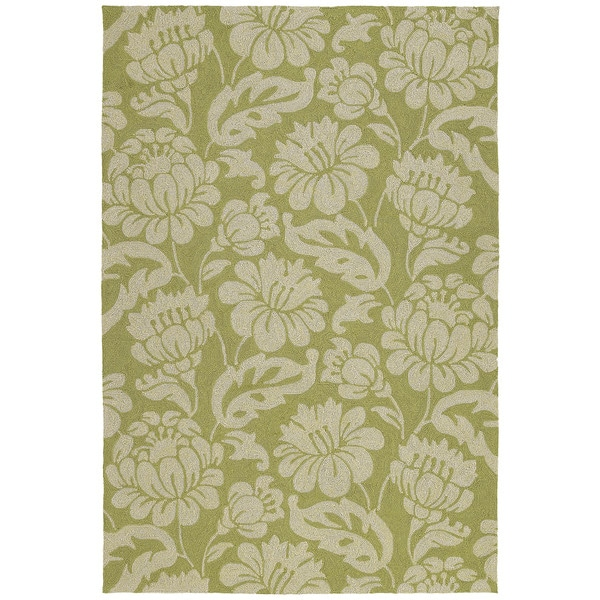 Seaside Green Garden Indoor Outdoor Rug 8 X 10 Free