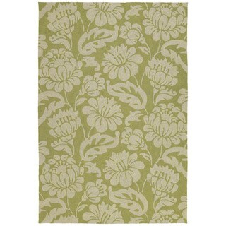 Seaside Green Garden Indoor/ Outdoor Rug (9' x 12')