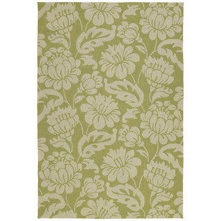 Seaside Green Garden Indoor/ Outdoor Rug (9' x 12') - 9' x 12'