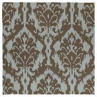 Seaside Chocolate Ikat Indoor/ Outdoor Rug
