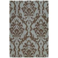 Seaside Chocolate Ikat Indoor/ Outdoor Rug - 9' x 12'