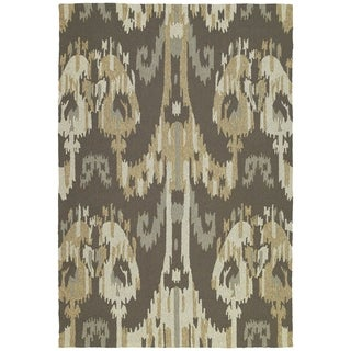 Seaside Brown Ikat Indoor/ Outdoor Rug (2' x 3')
