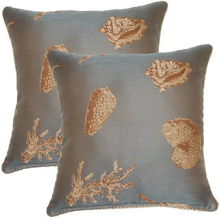 Nassau Sea 17-inch Throw Pillows (Set of 2)