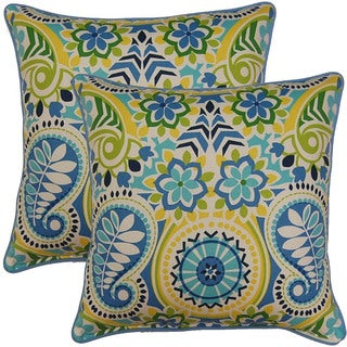 Paisley Prism Bluebell 17-inch Throw Pillows (Set of 2)