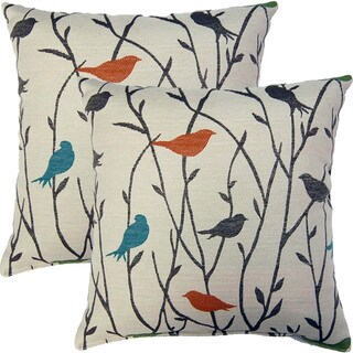 Twitter Calypso 17-inch Throw Pillows (Set of 2)