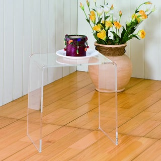 Clear Acrylic Accent Table Free Shipping Today