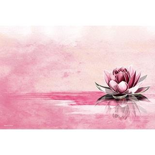Maxwell Dickson 'Pink Lotus' Modern Canvas Wall Art