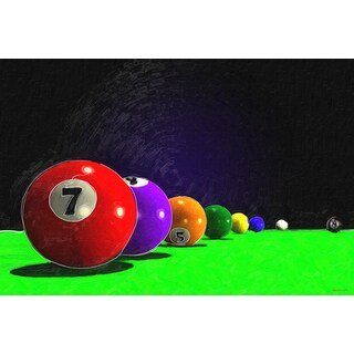 Maxwell Dickson 'Billiard Balls' Canvas Wall Art