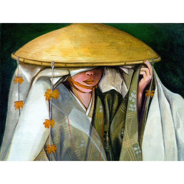 'Japanese Culture, Kimono' Modern Canvas Print Wall Art
