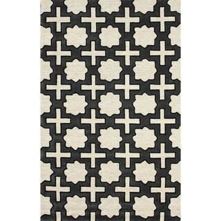 nuLOOM Handmade Indoor/ Outdoor Moroccan Star Trellis Coffee Rug (3'6 x 5'6)
