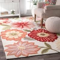 Oliver & James Serra Handmade Flower Area Rug (5' x 8') - 5' x 8'
