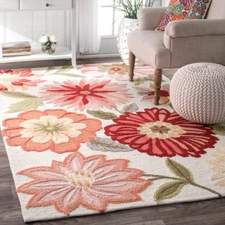nuLOOM Handmade Flower Garden Multi Rug (7'6 x 9'6)