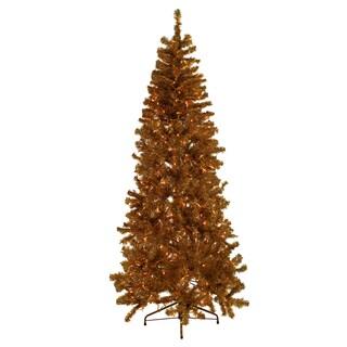 Gold Tinsel Tree