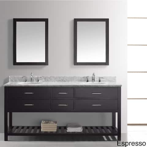 Virtu USA Caroline Estate 72-Inch Double Sink Bathroom Vanity Set