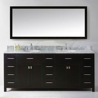 64 inch double sink bathroom vanity. Virtu USA Caroline Parkway 78 inch Double Sink Bathroom Vanity Set Size Vanities  Cabinets For Less