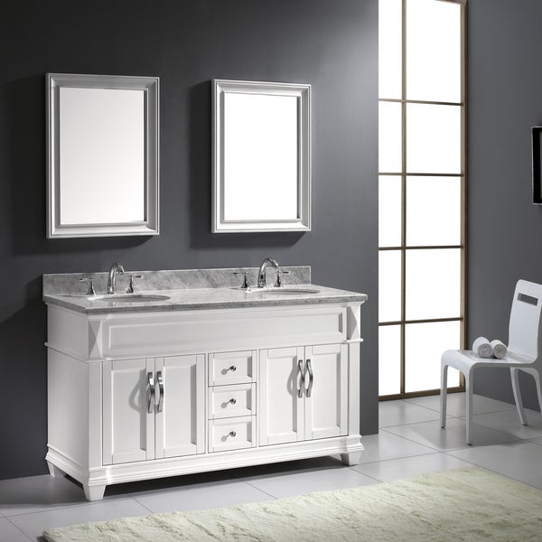 Virtu usa victoria 60 inch double sink bathroom vanity set free shipping today for Caroline 60 inch double sink bathroom vanity set