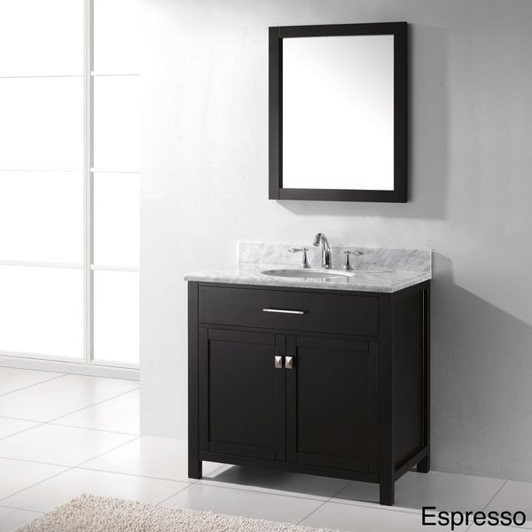 Virtu usa caroline 36 inch single sink bathroom vanity set for Virtu usa caroline 36 inch single sink bathroom vanity set