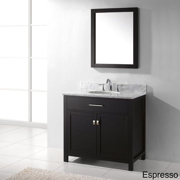 Virtu usa caroline 36 inch single sink bathroom vanity set Virtu usa caroline 36 inch single sink bathroom vanity set
