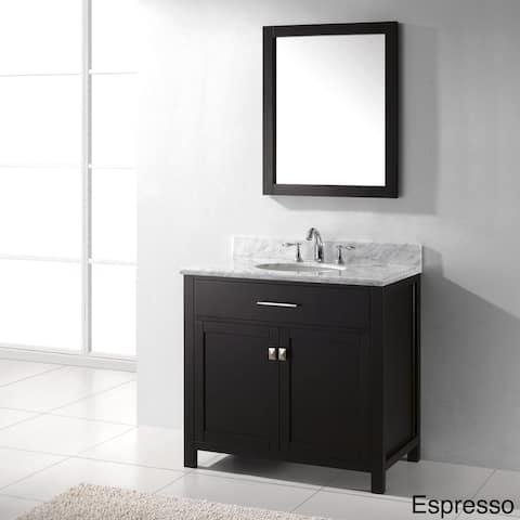 Virtu USA Caroline 36-Inch Single Sink Bathroom Vanity Set