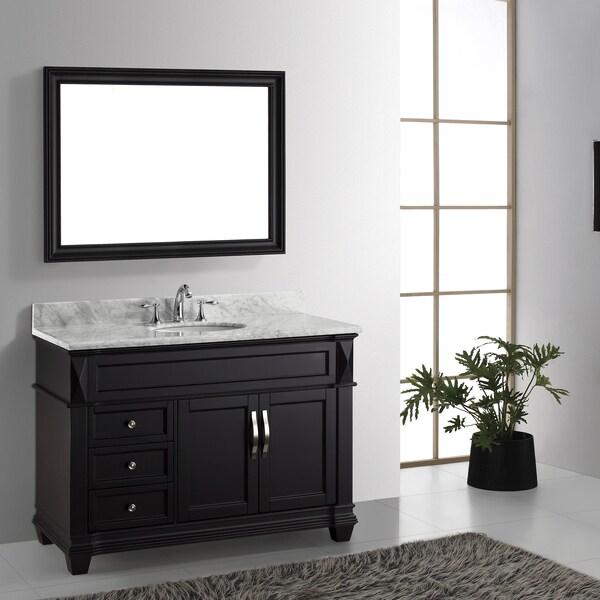 Ziemlich Bathroom Vanities virtu usa victoria 48-inch italian carrara white marble single