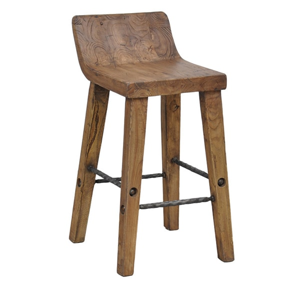 Tam Rustic Natural Wood 24-inch Counter Stool by Kosas Home - Free Shipping Today - Overstock.com - 15656614  sc 1 st  Overstock.com & Tam Rustic Natural Wood 24-inch Counter Stool by Kosas Home - Free ... islam-shia.org