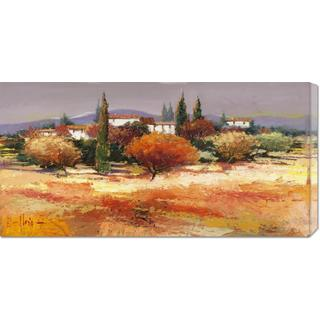 Global Gallery Luigi Florio 'Colline assolate' Stretched Canvas