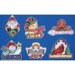 Signs Of Christmas Ornaments Counted Cross Stitch Kit - 3-1/2 X4 14 Count