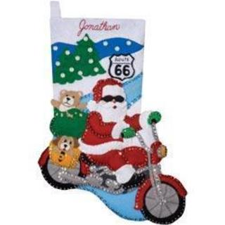 Route 66 Stocking Felt Applique Kit - 16 Long
