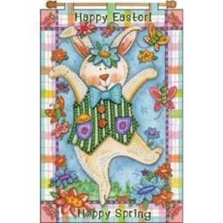 Happy Spring Jeweled Banner Kit - 16 X24