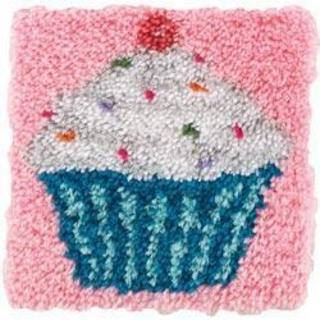 Wonderart Latch Hook Kit 12 X12  - Cupcake