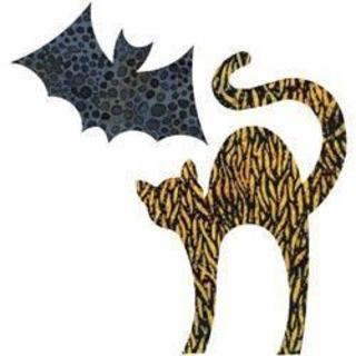 Go! Fabric Cutting Die - Cat -5-1/8 X7-3/8 Bat -5-1/8 X3