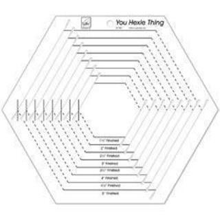 You Hexie Thing Hexagon Ruler -