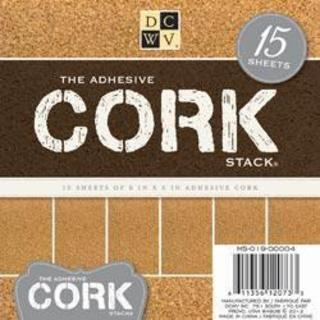 Adhesive Cork Stack 6 X6 15/Sheets -
