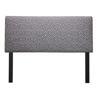 Upholstered Towers Black/ White Headboard
