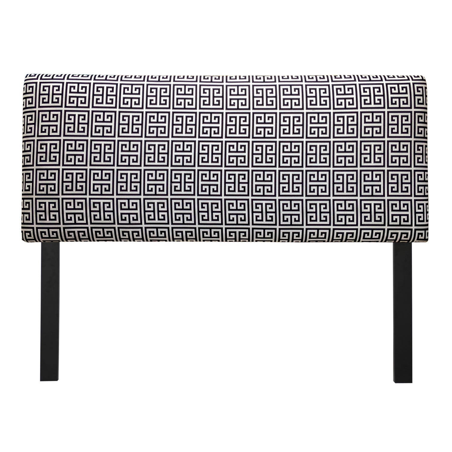 Sole Designs Upholstered Towers Black/ White Headboard (F...