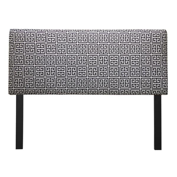 Upholstered Towers Black/ White Headboard