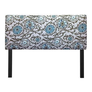 Upholstered Suzani Village Blue Headboard